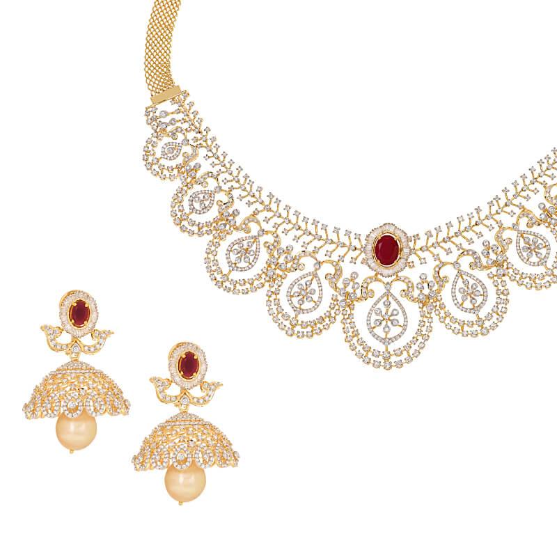 Abelia Gems Diamond Necklace