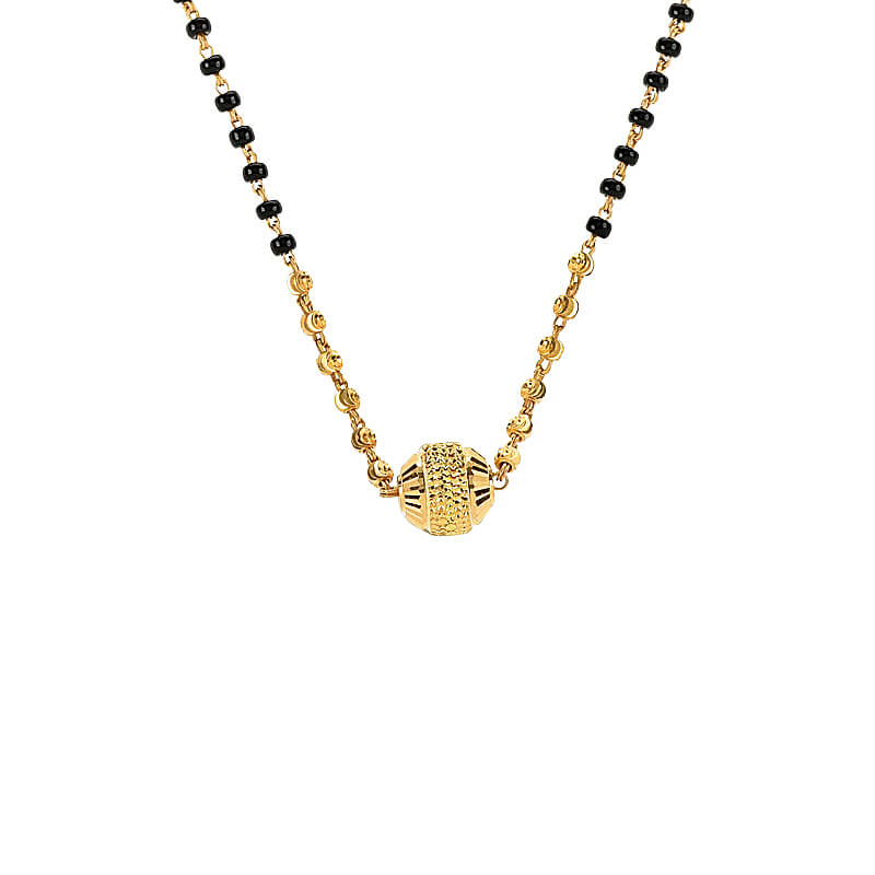 Gold Bead Chain Mangalsutra