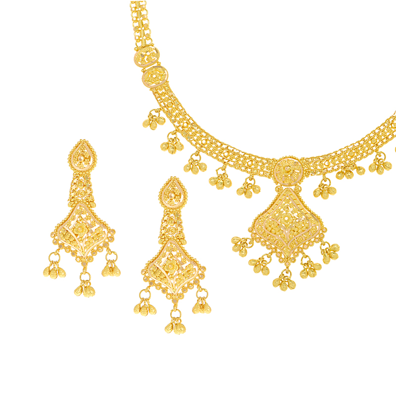 Filigree Dangles Necklace Set