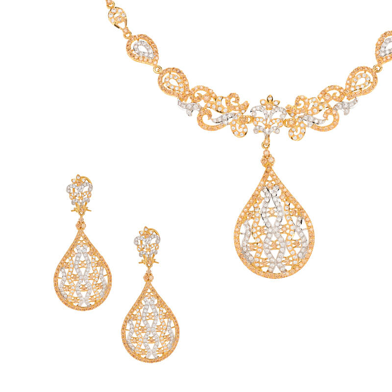 CZ Delight Gold Necklace