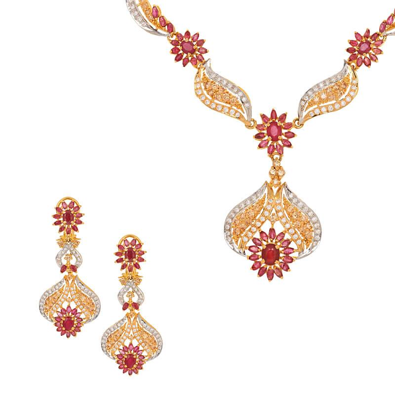 Eshaal Cz Gems Necklace