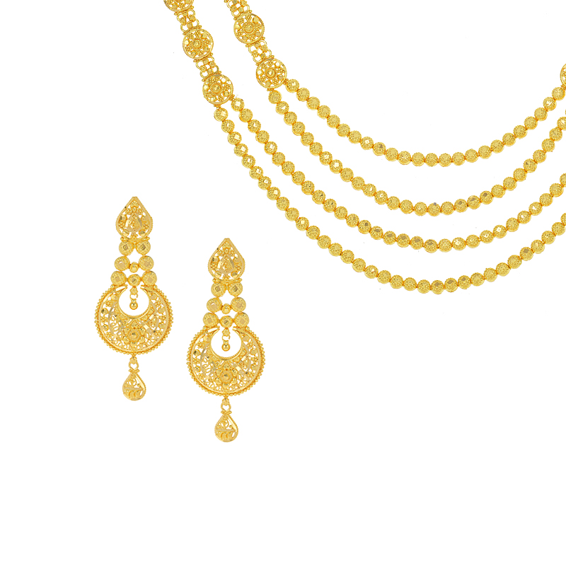 Layered Chand Bali Necklace