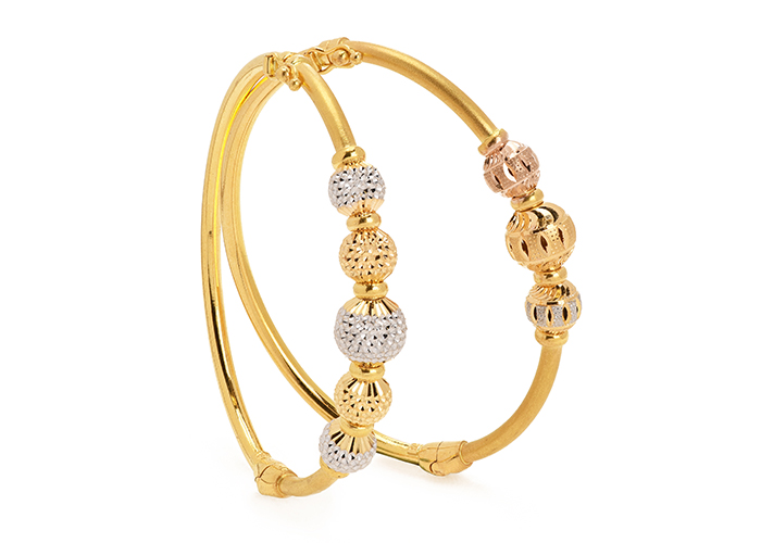 22k gold bangle bracelets for her new