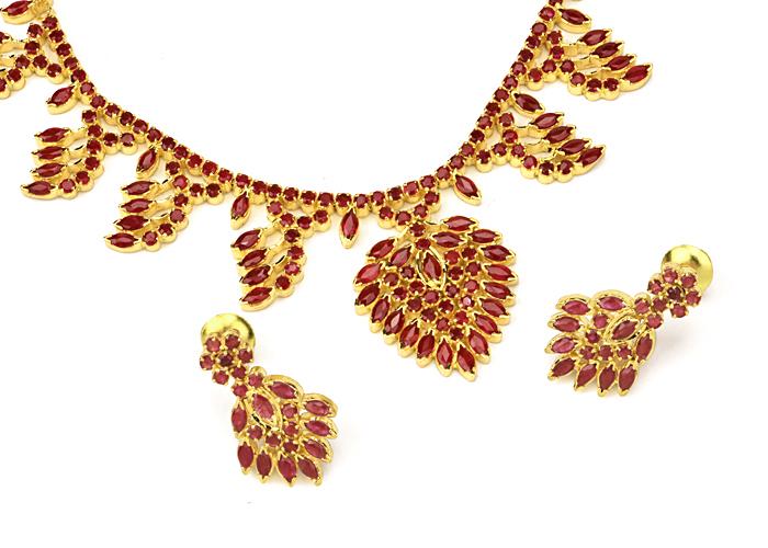 22k Gold GemStone Necklace sets