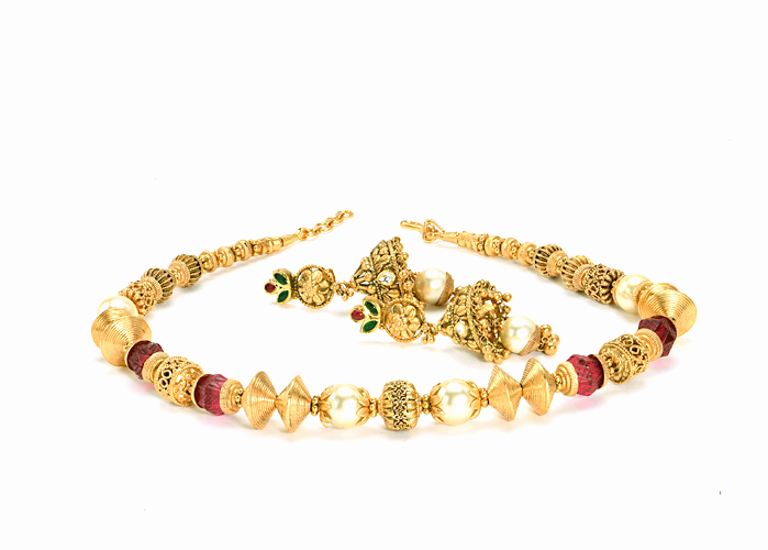 22kt Antique Gold Necklace set