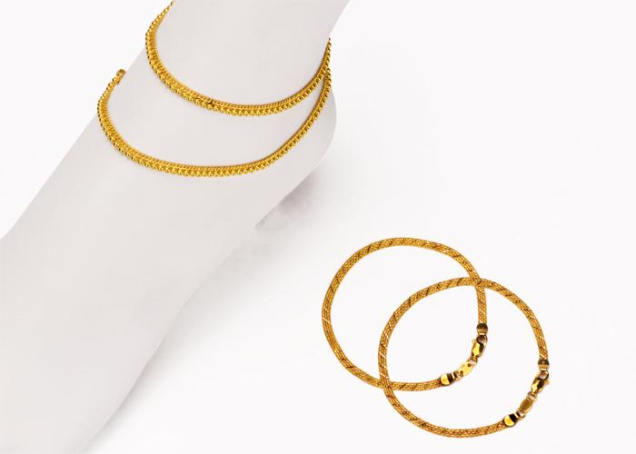 22k Gold Anklets