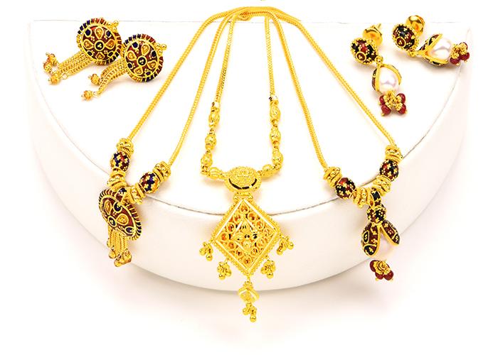 22k Gold Dokiya Necklace sets