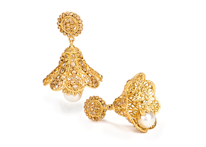 22k Gold jhumka earrings