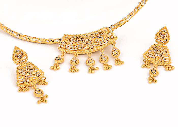 22k gold necklace sets