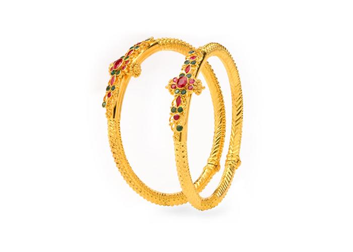 22k gold bangles