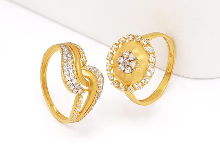22k cz gold rings