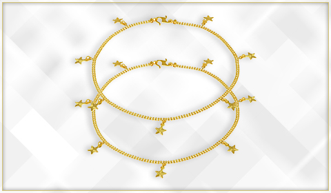 trendy jewelry 22k gold ankle bracelet designs