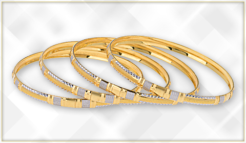 trendy 22k gold bangle designs