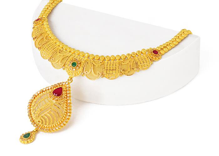 22k gold necklace set