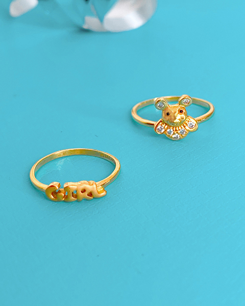 22k gold rings for babies