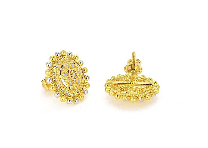 22 karat gold earrings for her