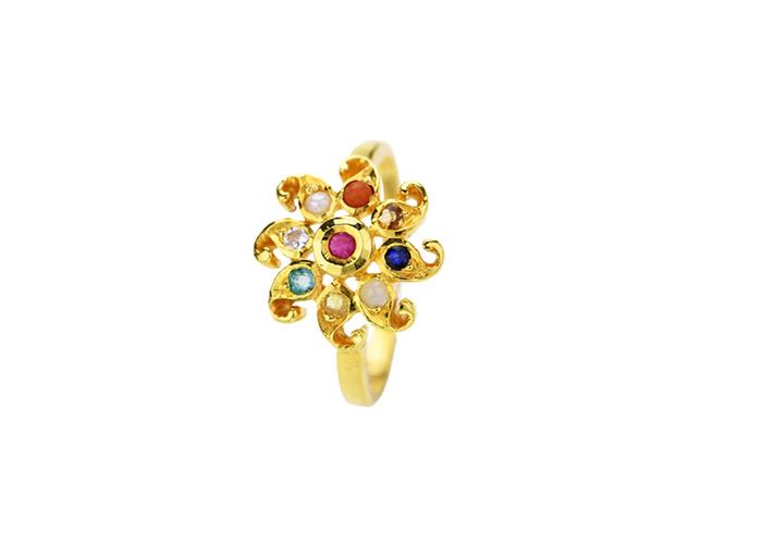 22k gold gemstones rings