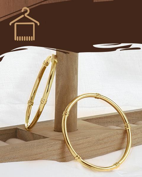22k yellow gold glossy bangles