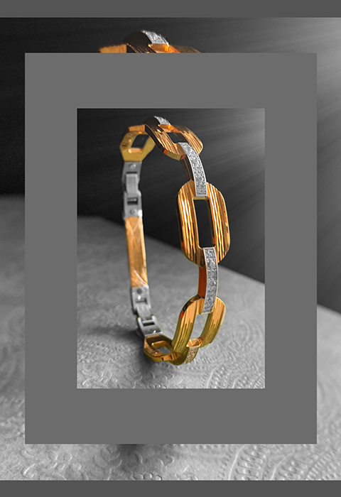 22k gold cuff bracelet for him
