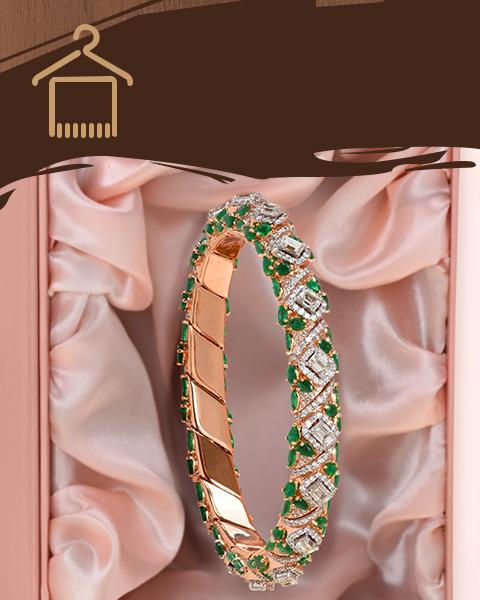 diamond vvs rose gold bangles