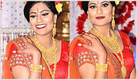 22k gold bridal necklaces