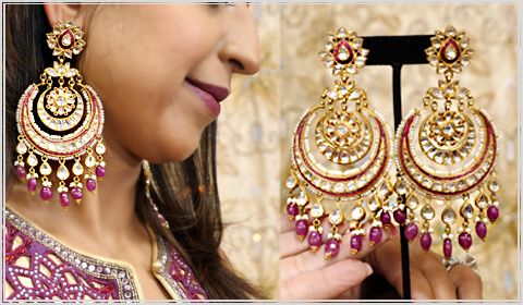 Chand bali jewelry for Navratri