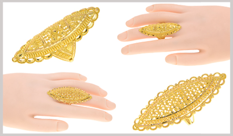 chunky finger gold rings