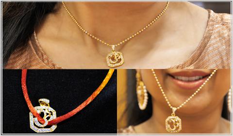 22k gold pendant DIY rakhi