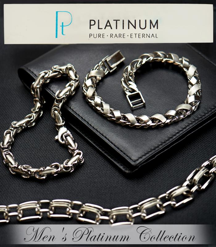 Platinum men's jewelry