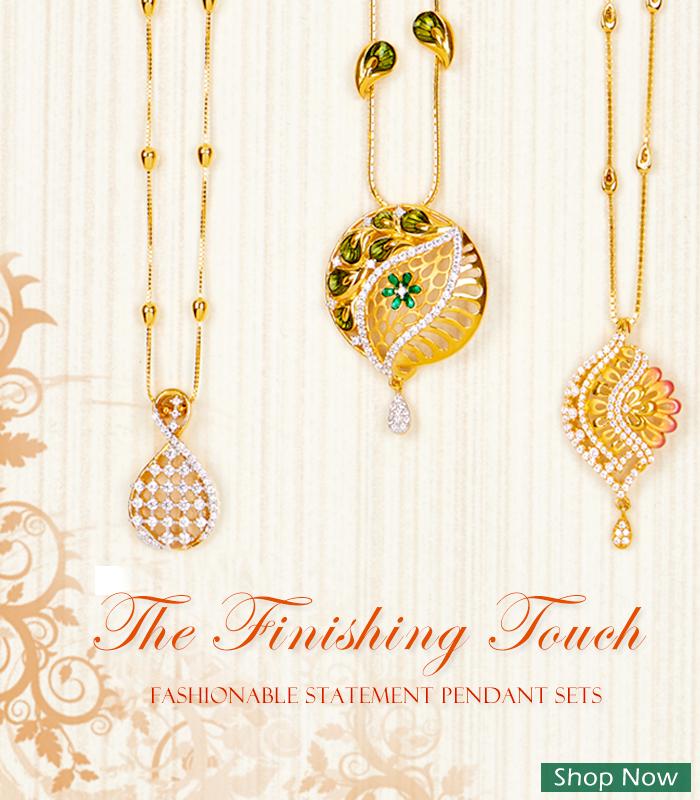 Designer 22k gold pendant sets