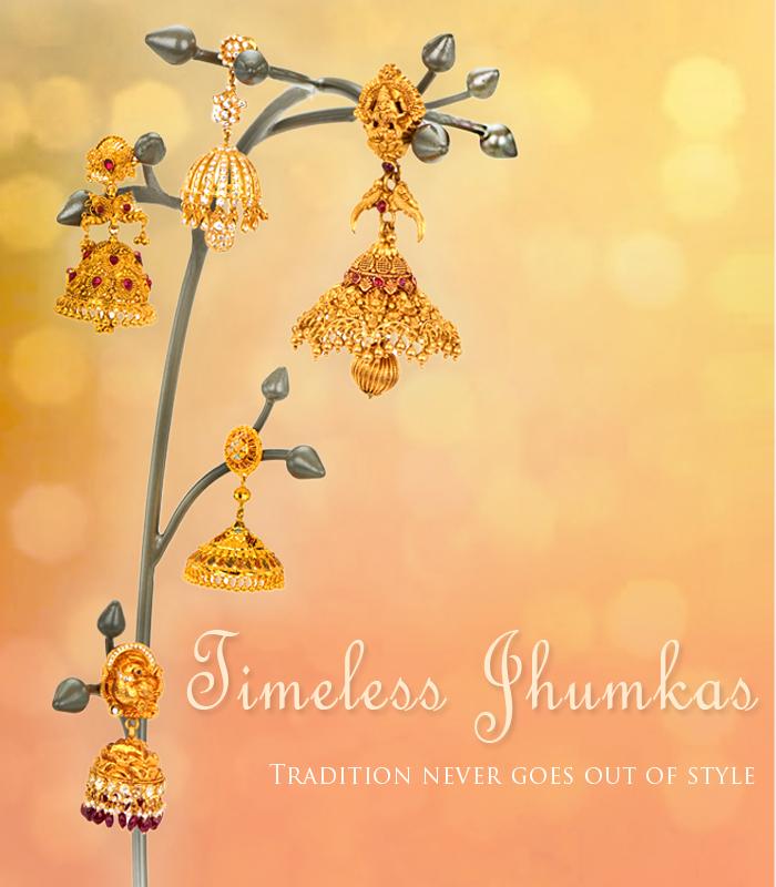22k gold & diamond jhumkas collection