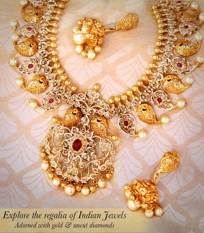 Uncut diamonds jewellery