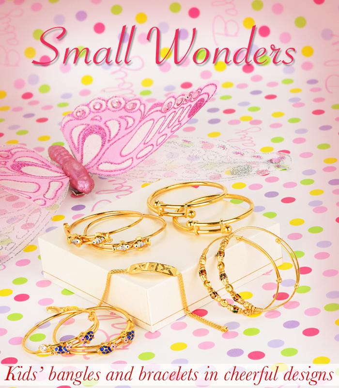 kids gold bracelets and bangles