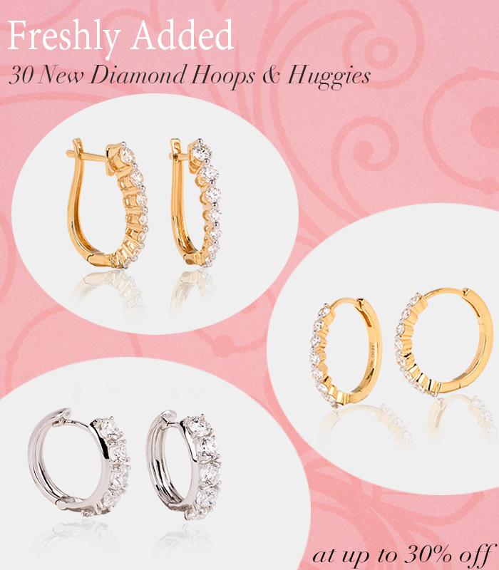 diamond hoop huggies