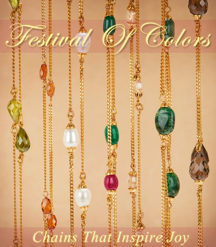 22k gold gemstone chains