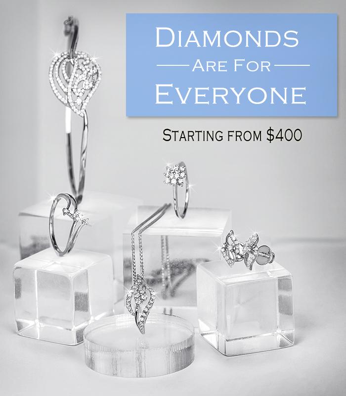 Diamond jewelry for women & men