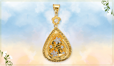 trendy jewelry floral designs pendant