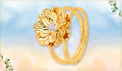Foral design ring jewelry