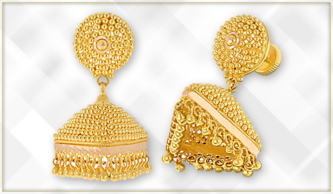 gold jhumki design blog