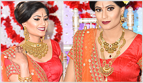 22k gold antique bridal necklaces