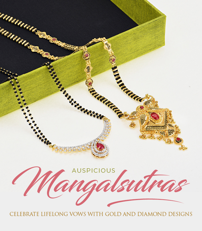 gold and diamond mangalsutra collection