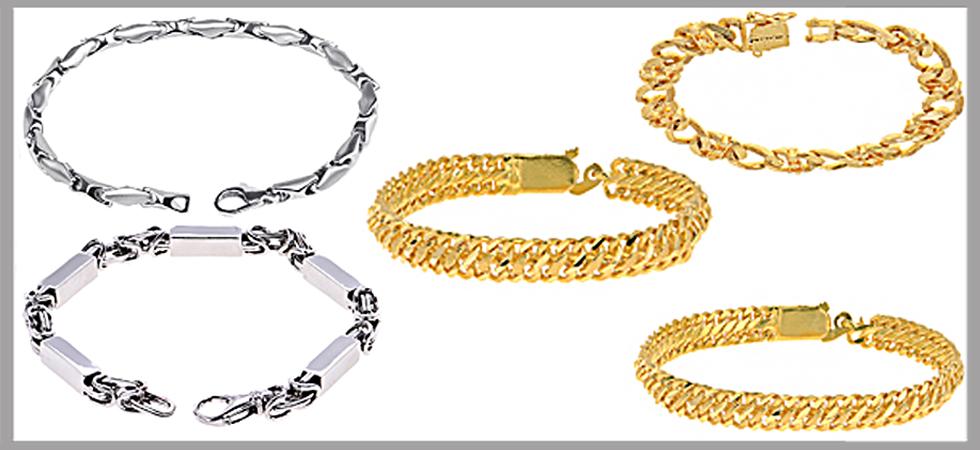 men's link gold bracelets video blog