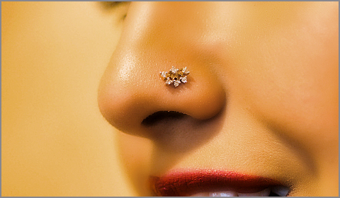 diamond nose pins