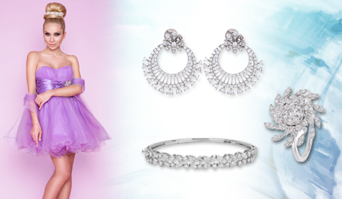 diamond jewelry look prom style blog