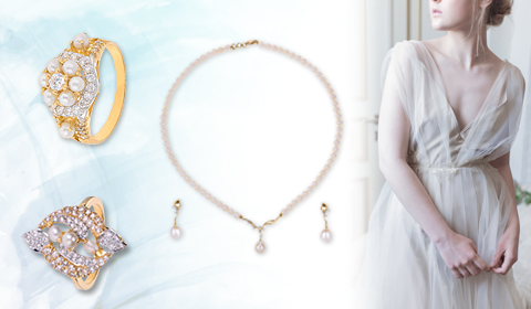 prom pearl jewelry