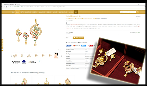 Is the jewelry sold online is exactly what is going to be shipped??