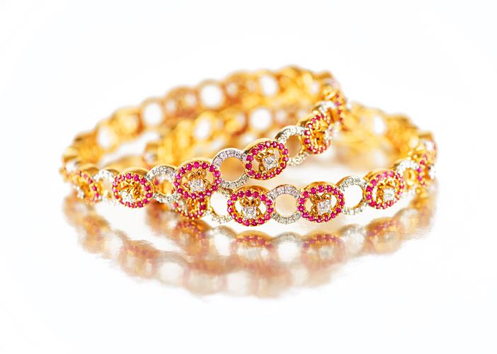 Luxury Precious Diamond Bangles