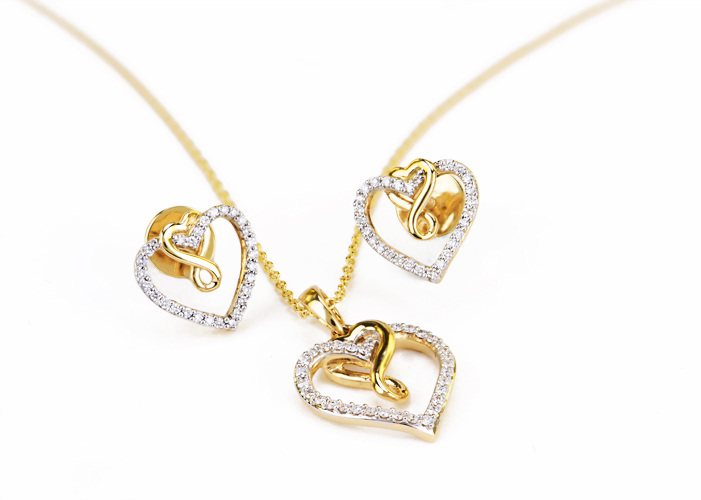 Diamond Pendant Necklace sets