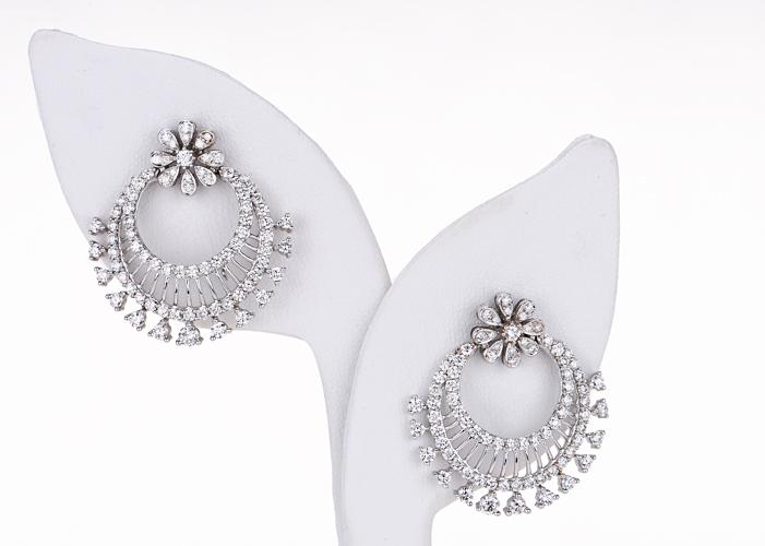 designer diamond chand bali