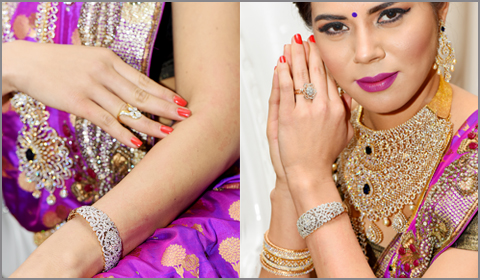 diamond jewelry for South Indian bride